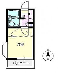 エマーユ60上福岡[201号室号室]の間取り