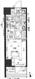 東京メトロ南北線 白金高輪駅 徒歩5分の賃貸マンション 7階1Kの間取り