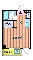 東京都日野市新町1丁目の賃貸マンションの間取り