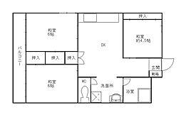 チュリス福岡[8階]の間取り
