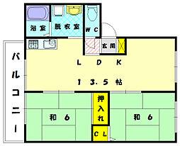 フレグランススエ[1階]の間取り