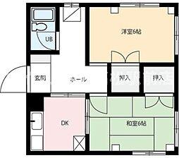 香川県高松市宮脇町2の賃貸マンションの間取り