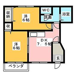 プロスパーI・II[1階]の間取り