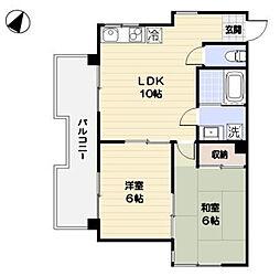 シャルール相模[4階]の間取り