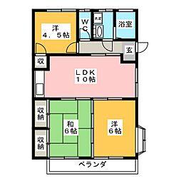 トレンディ平野B[2階]の間取り
