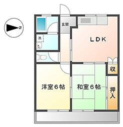 ファインシティ小川A[2階]の間取り