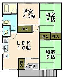 静和コーポ A棟[1階]の間取り