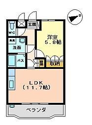 ユア・ハウス[102号室]の間取り
