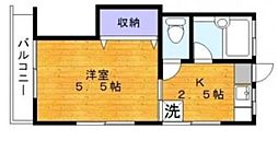 東京都品川区小山5丁目の賃貸アパートの間取り