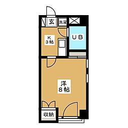 メゾンビッグバードC[2階]の間取り
