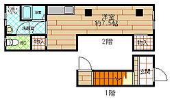 伝法橋本5丁目アパート[B号号室]の間取り