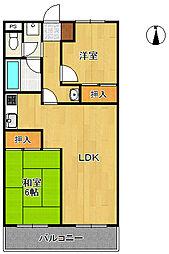 尾崎マンション[3階]の間取り