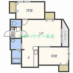 リエタメンテ N16[4階]の間取り