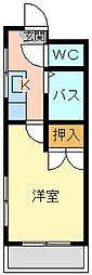 シャトレ井堀[501号室]の間取り