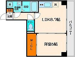 SERENiTE江坂四番館[7階]の間取り