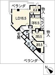 Ns21やごとB棟[4階]の間取り