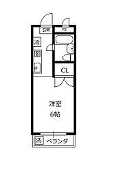サンハイム石坂[1階]の間取り