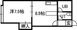 第一クインハイツ[2階]の間取り