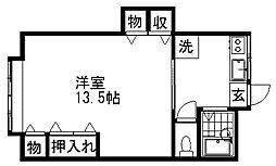 新潟県新潟市東区牡丹山2丁目の賃貸アパートの間取り
