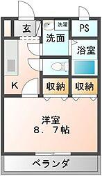 愛媛県新居浜市坂井町2丁目の賃貸マンションの間取り