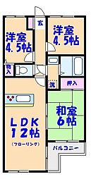 千葉県船橋市印内3丁目の賃貸マンションの間取り