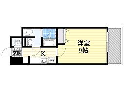 プラウドフラット新大阪[13階]の間取り