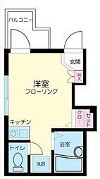 東京都足立区中川2丁目の賃貸アパートの間取り