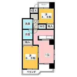 アーバンシティー名城[11階]の間取り