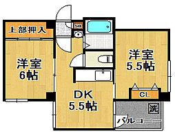 ハイコート泉尾[7階]の間取り