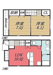 [タウンハウス] 千葉県香取郡神崎町神崎神宿 の賃貸【/】の間取り