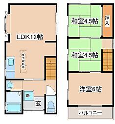 [一戸建] 兵庫県神戸市灘区泉通6丁目 の賃貸【/】の間取り