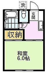 メゾンハナツバキ[2階]の間取り