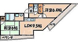 広島県広島市安芸区矢野西5丁目の賃貸マンションの間取り
