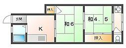 サンライズ栄[1階]の間取り