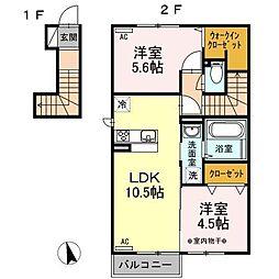 ル・シーニュ[2階]の間取り