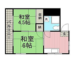 東京都江東区大島3丁目の賃貸マンションの間取り
