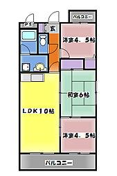 西明石マンション 南町[6階]の間取り
