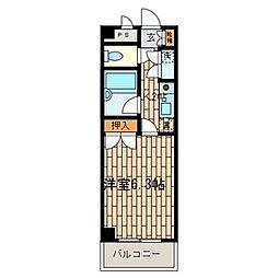 ビレッジコア八王子[5階]の間取り