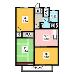 サニーコーポ (北)[2階]の間取り