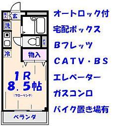 エクセル貴多川第5B棟[5319号室]の間取り