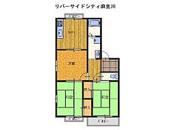 リバーサイドシティ麻生川[2階]の間取り