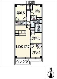 プレミスト一社 406号室[4階]の間取り