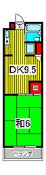 武蔵浦和宝マンション[2階]の間取り