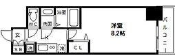 プライムアーバン御堂筋本町 7階1Kの間取り