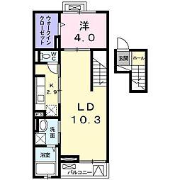 クレメントハウス[0405号室]の間取り