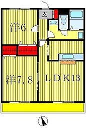 グランド・カオルIII番館[3階]の間取り