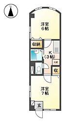376ハウス[3階]の間取り