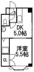 北海道札幌市白石区本通14丁目南の賃貸マンションの間取り