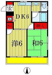 ハイツトヨシマ[2階]の間取り