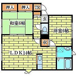 メイユール喜寿E-2[1階]の間取り